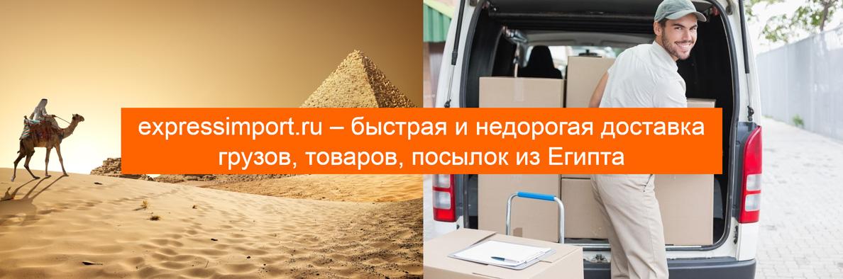Доставка из Египта в Россию грузов, посылок, товаров